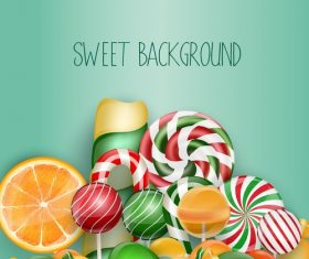 Various colorful candy background illustration vector