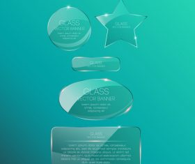 Various glass banners vector