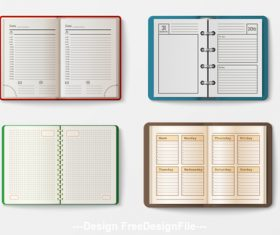 Various notebooks vector 01