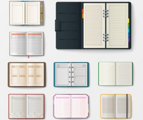 Various notebooks vector 02