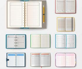 Various notebooks vector 03