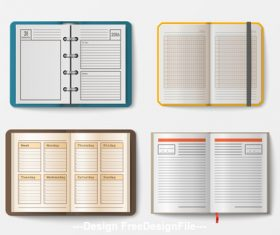 Various notebooks vector 05