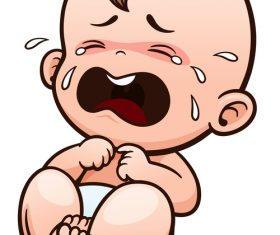 Vector Illustration crying baby