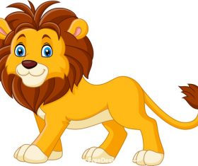 Vector cartoon lion
