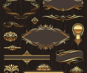 Vector golden luxury ornate frames