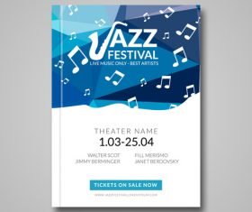 Vector musical flyer