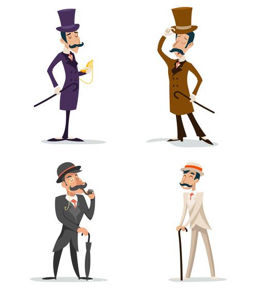 Victorian Gentleman vector