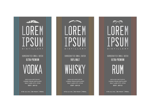 Vintage Liquor labels vector