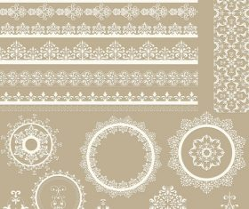 Vintage decorative floral design pattern vector