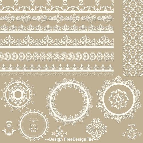 Vintage decorative floral design pattern vector