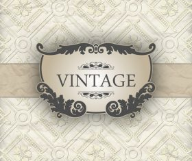 Vintage decorative floral vector
