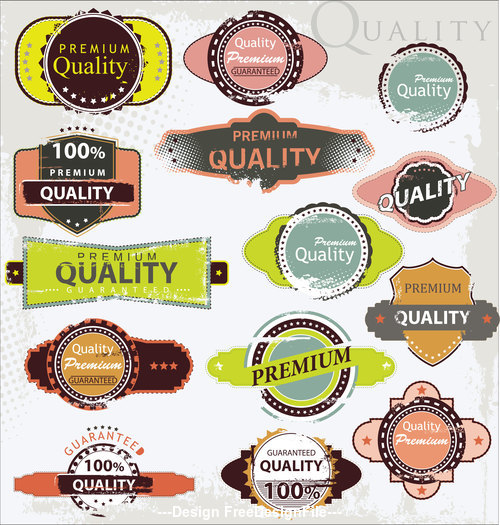 Vintage design element label vector