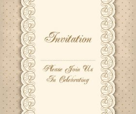 Vintage invitation lacy damask decoration 04