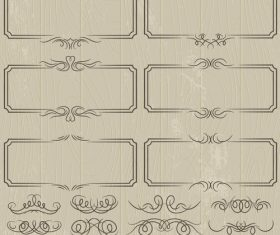Vintage lace frame decoration pattern vector