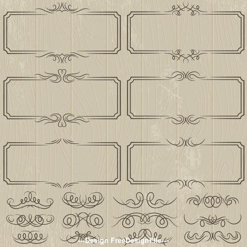Vintage lace frame decoration pattern vector