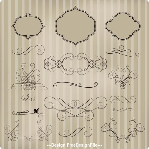 Vintage lace ornament pattern vector