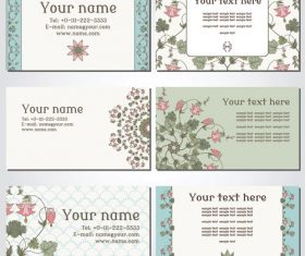 Vintage pattern template cards vector