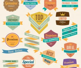 Vintage premium quality sale and label design element vector