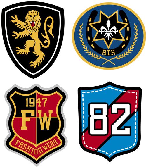 Vintage shield badge vector