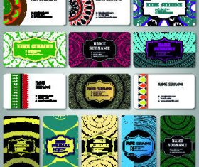 Vintage template color cards vector