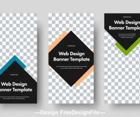 Web design banner template vector