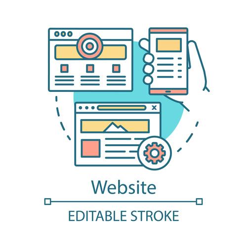 Website cartoon vector