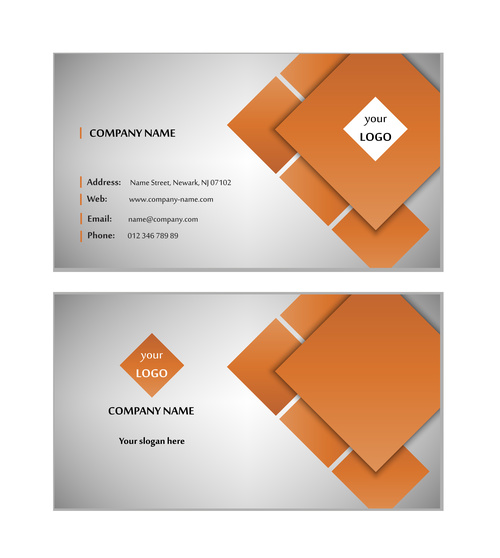 White background brown geometric graphic card design vector