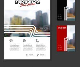 White line Brochure cover design vector