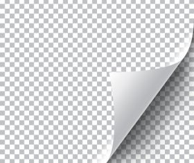 White squared paper curly page corner vector