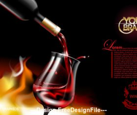 Wine advertisement vector