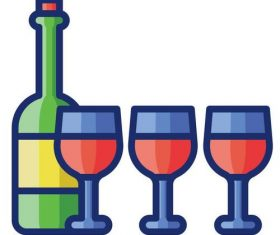 Wine tasting cartoon vector