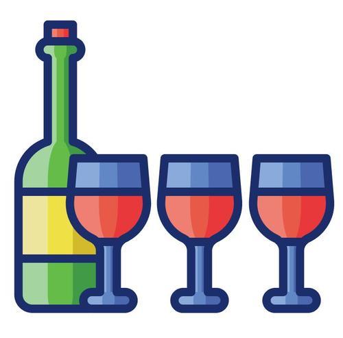 Wine tasting cartoon vector