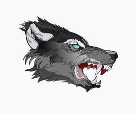 Wolf face vector