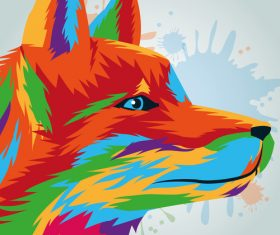 Wolf watercolor illustration vector