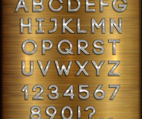 Wooden background gold font and numbers vector