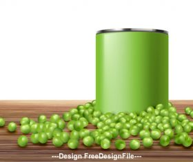 Young peas ads poster vector