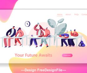 Your future awaits flat banner vector