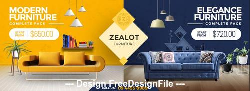 Zealot Furniture Store Facebook Cover PSD Template