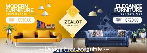 Zealot Furniture Store Facebook Cover PSD Template