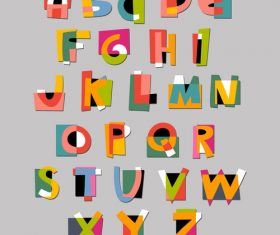 abstract paper letters Vector