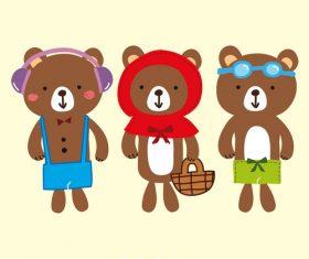 bear cute stlye vector