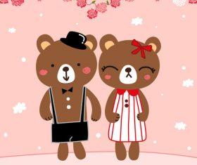 bear married vector