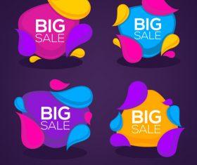 big sale bubbles vector