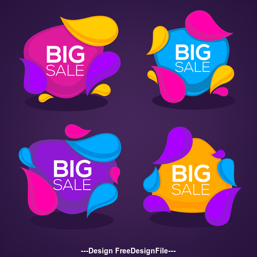 big sale bubbles vector