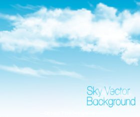 blue sky with white clouds background vector