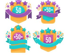 bright badges vector
