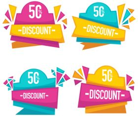 bright discount vector
