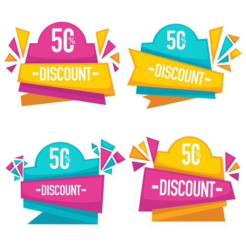 bright discount vector