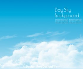 day sky with white clouds background vector