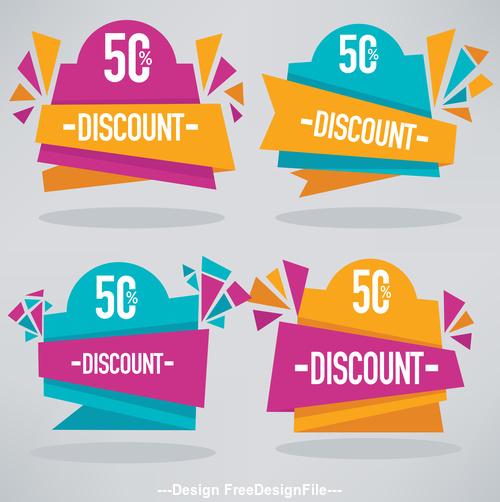 discount banners vector